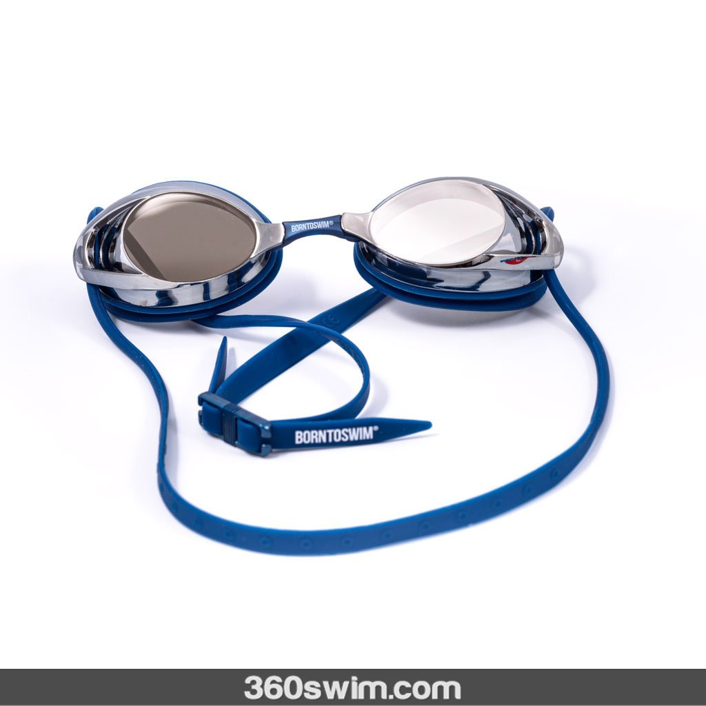 Born To Swim mirrored goggles