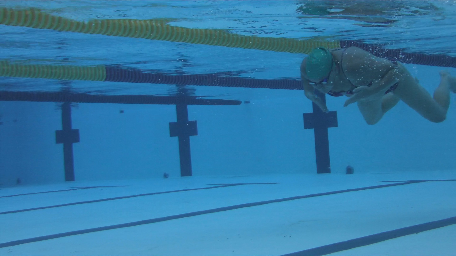 The underwater recovery should be narrow