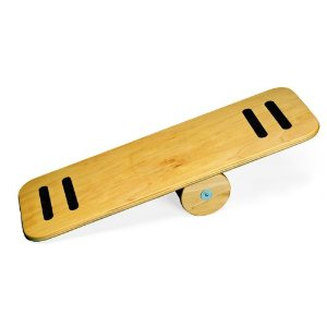 Use balance board to strengthen your core