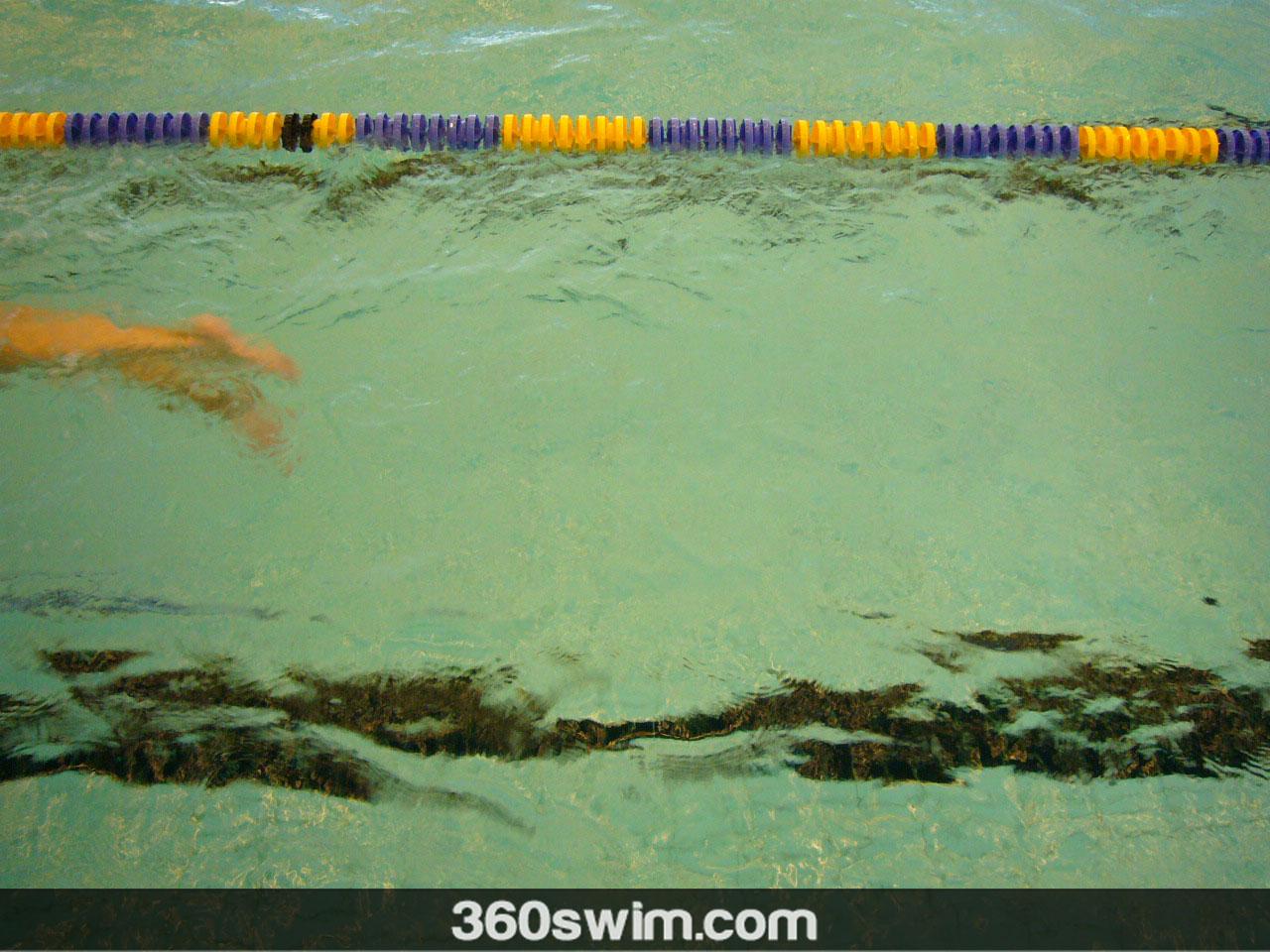 Swim kick - keep it in the bucket