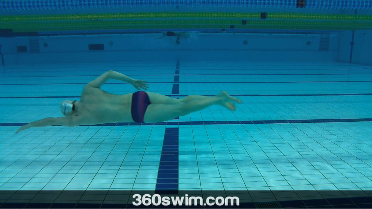 Underwater freestyle technique drill