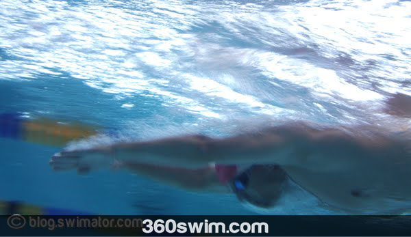 streamline during the breaststroke double kick drill