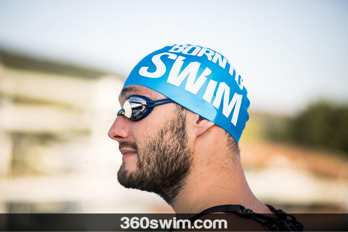 Born To Swim metallic cap