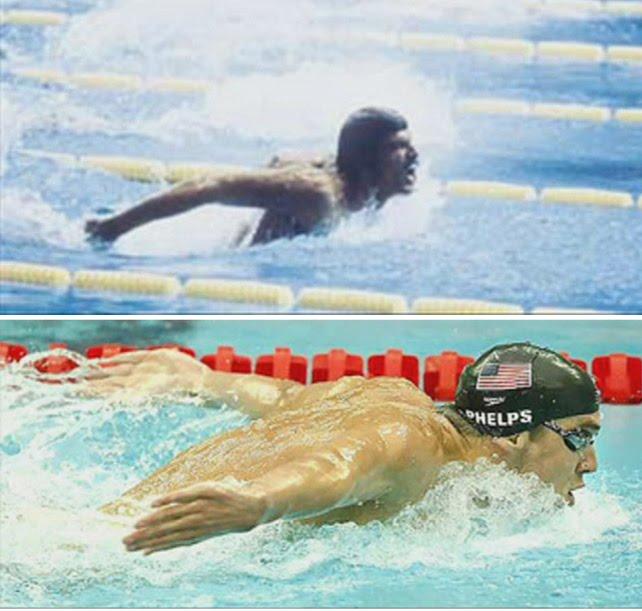 Michael Phelps vs. Mark Spitz