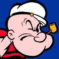Make a Popeye mouth to breathe